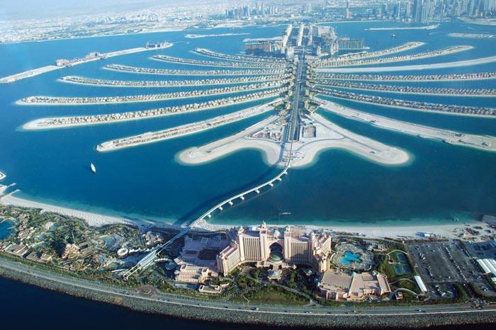 Остров Пальма Джумейра в Дубае