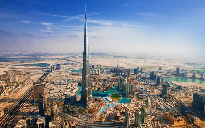 Башня Бурдж Халифа в Дубае