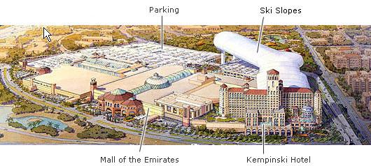 Карта Ски Дубай