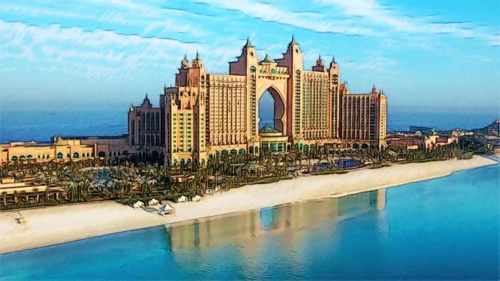 Отели с собственным пляжем в Дубае