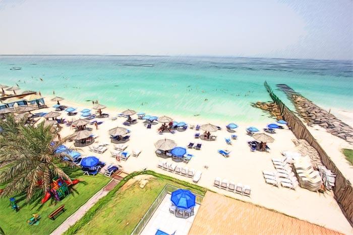 Отели с собственным пляжем в Шардже