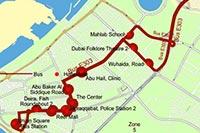 Схема маршрута №E303 от Шарджи до Дубая