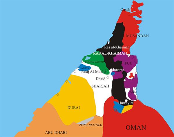 Сколько эмиратов в ОАЭ